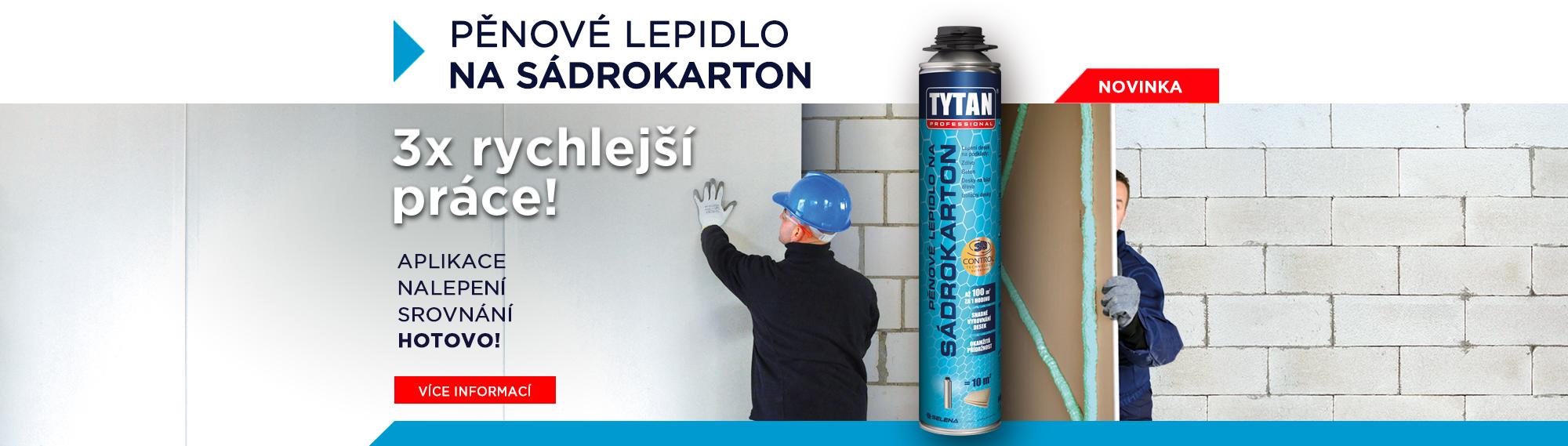 Tytan Professional: Pěnové lepidlo na sádrokarton